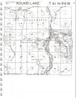 Round Lake T41N-R6W, Sawyer County 1972